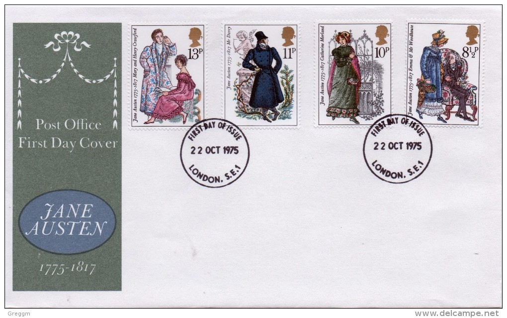 GB First Day Cover To Celebrate Jane Austen Of 1975.  - FDC