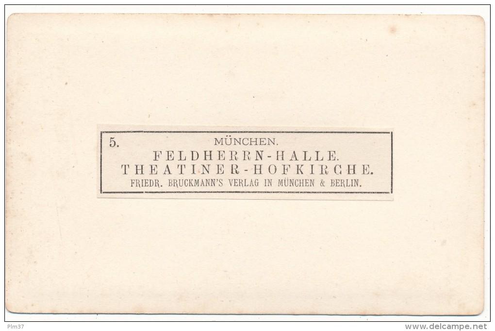 MUNCHEN MUNICH, Allemagne - CDV - Feldheren Halle, Théatiner Hofkirche - Photos