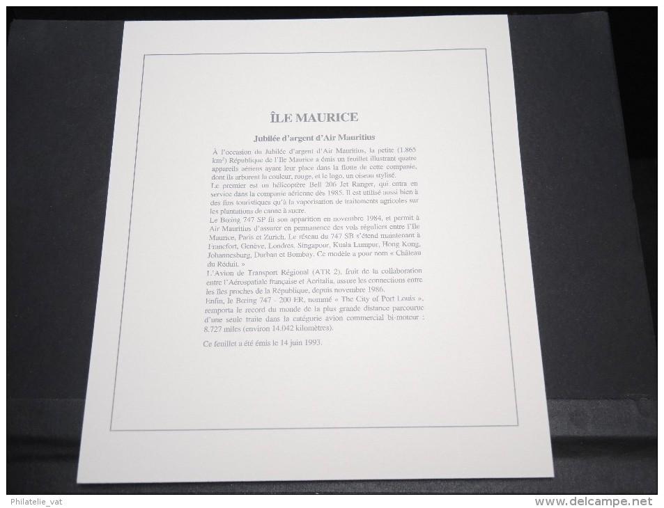 ILES MAURICE - Bloc Luxe Avec Texte Explicatif - Belle Qualité - À Voir -  N° 11799 - Maurice (1968-...)