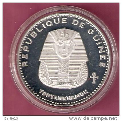 GUINEE 500 FRANCS 1970 SILVER PROOF SCARCE TUTANKHAMON KM27 - Guinea