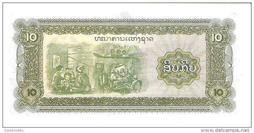 Laos - Pick 27 - 10 Kip 1979 - Unc - Laos