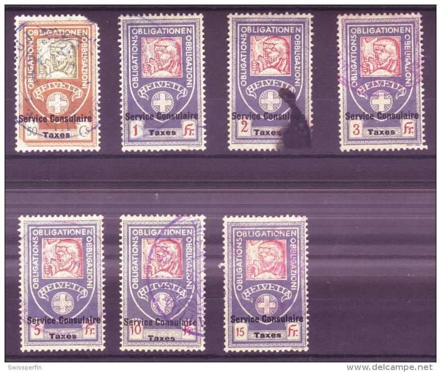 869 - Fiskalmarken Der Eidgenossenschaft - Fiscaux