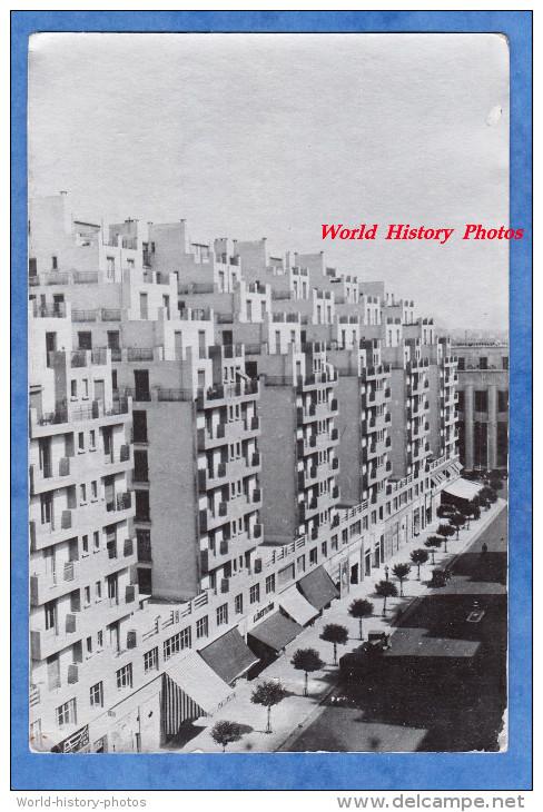 Photo Ancienne - VILLEURBANNE Prés LYON - Vue De Nouveaux Immeubles En 1934 - Architecture Building Design Vintage - Places