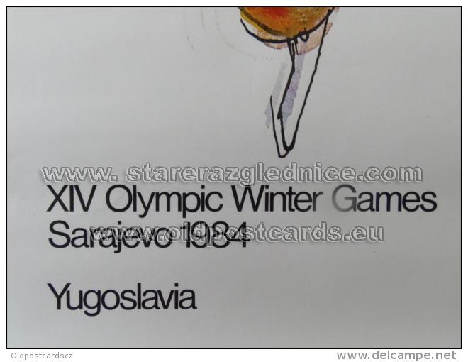 Sarajevo Olympic Winter Games 1984 100x70 Cm 39x27 Inch Racing Skates ORIGINAL - Manifesti