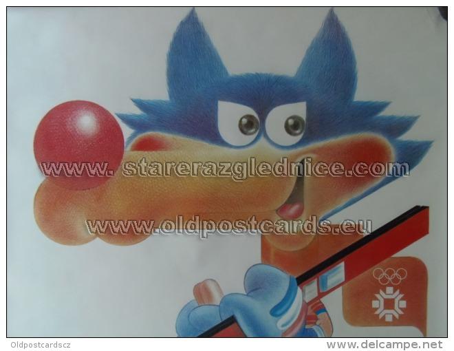 Sarajevo Olympic Winter Games 1984 100x70 Cm 39x27 Inch Vucko Mascot ORIGINAL - Manifesti