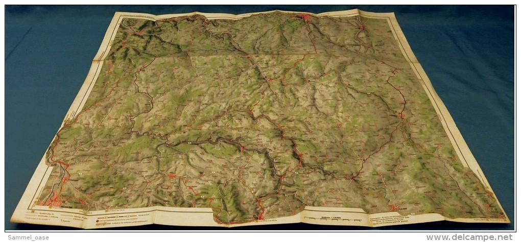 ARAL BV-Tourenkarte Hohenlohe-Franken  -  Von Ca. 1955 - 1 : 125.000  -  Ca. Größe : 69 X 63 Cm - Maps Of The World