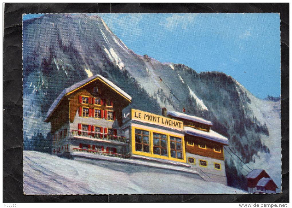 LES HOUCHES - Le Mont-Lachat Et Ses Motels - Vue Générale L'hiver - Les Houches