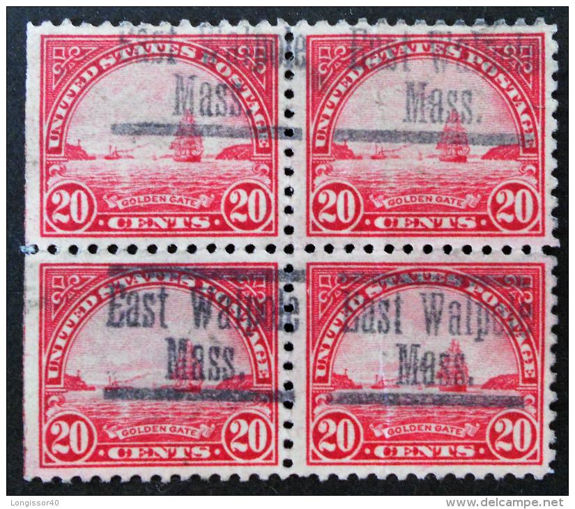 LA PORTE D'OR A SAN FRACISCO 1922 - BLOC DE QUARTRE OBLITERE - YT 242 - MI 279A - Used Stamps