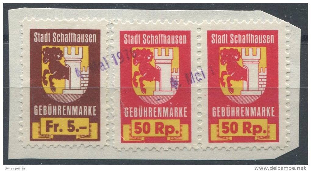 896 - SCHAFFHAUSEN Fiskalmarken - Fiscaux