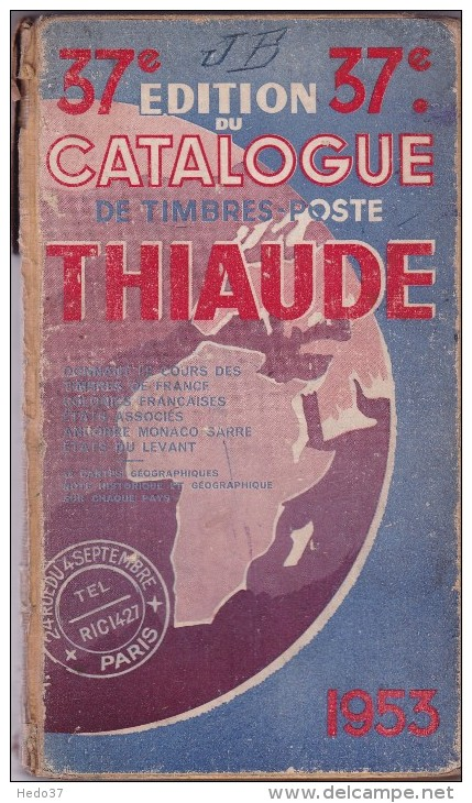 Thiaude 1953 - 256 Pages - France