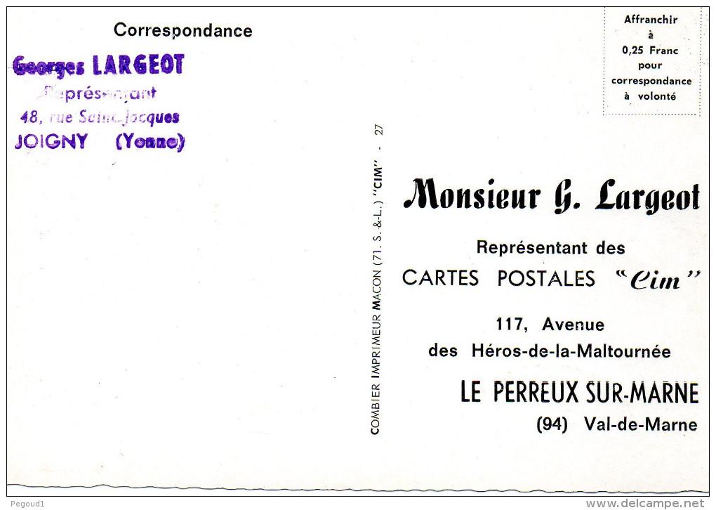 CARTE POSTALE MODERNE. SAONE-ET-LOIRE. SAINT-MARTIN-BELLE ROCHE. ETABLISSEMENTS C.I.M. FABRICANT CARTES POSTALES COMBIER - France