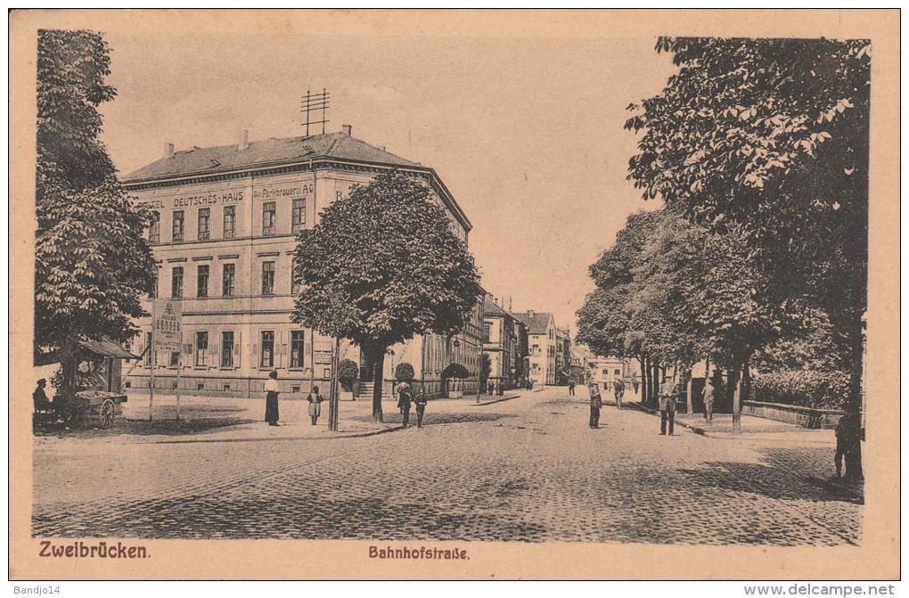 Zweibruecken  - Bahnhofstrasse - Scan Recto-verso - Zweibruecken
