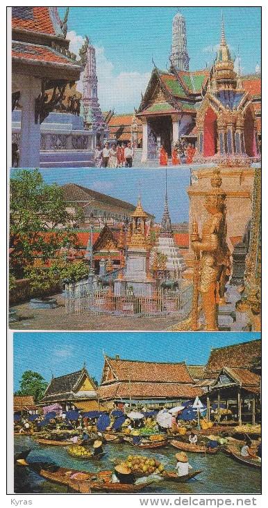 AB / Lot 3 CPM  9x14 . THAILANDE   Bangkok  ( Dt Floating Market) - Thailand