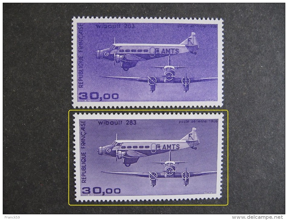 AVION TRIMOTEUR WIBAULT 283 - Y&T N° PA 59b ** MNH - 1960-.... Nuovi