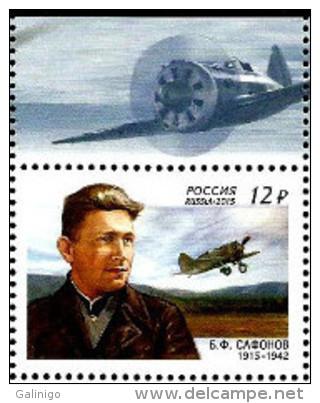 2015 1v Russia Russland Russie Rusia Ryssland Pilot  Safonov-aviation-WW2 Mi 2207 MNH ** - Avions