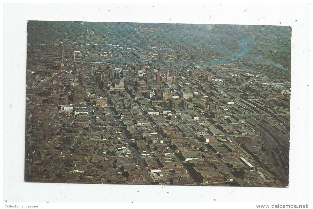 G-I-E , Cp , ETATS UNIS , Iowa , Air View Of DES MOINES , Vierge , Ed : Plastichrome - Des Moines