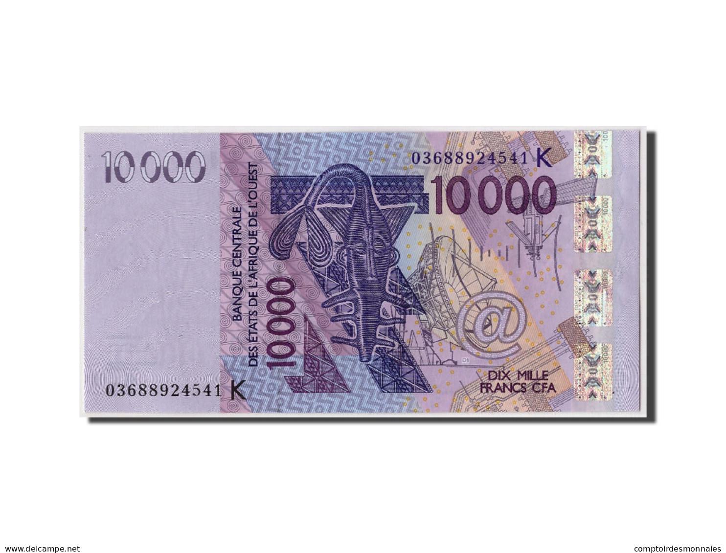 Etats De L'Afrique De L'Ouest, 10,000 Francs, 2003, Non Daté, KM:718Ka, NEUF - Sénégal
