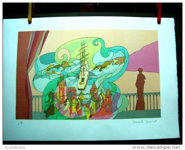 "LITHOGRAPHIE ORIGINALE SIGNEE NUMEROTEE SUR PAPIER VELIN ""naufrage"" - Lithographies"