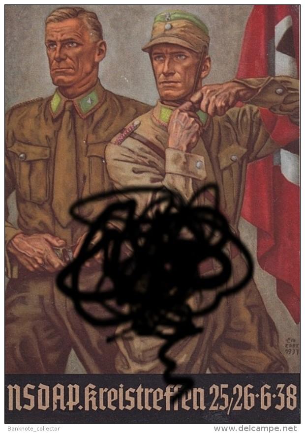 """Deutschland, Germany - """" Dem Deutschen Volk """", 2 X GELDLOTTERIE, FOTO & DOKUMENT Der NSDAP, 1933 ! - Sin Clasificación"""