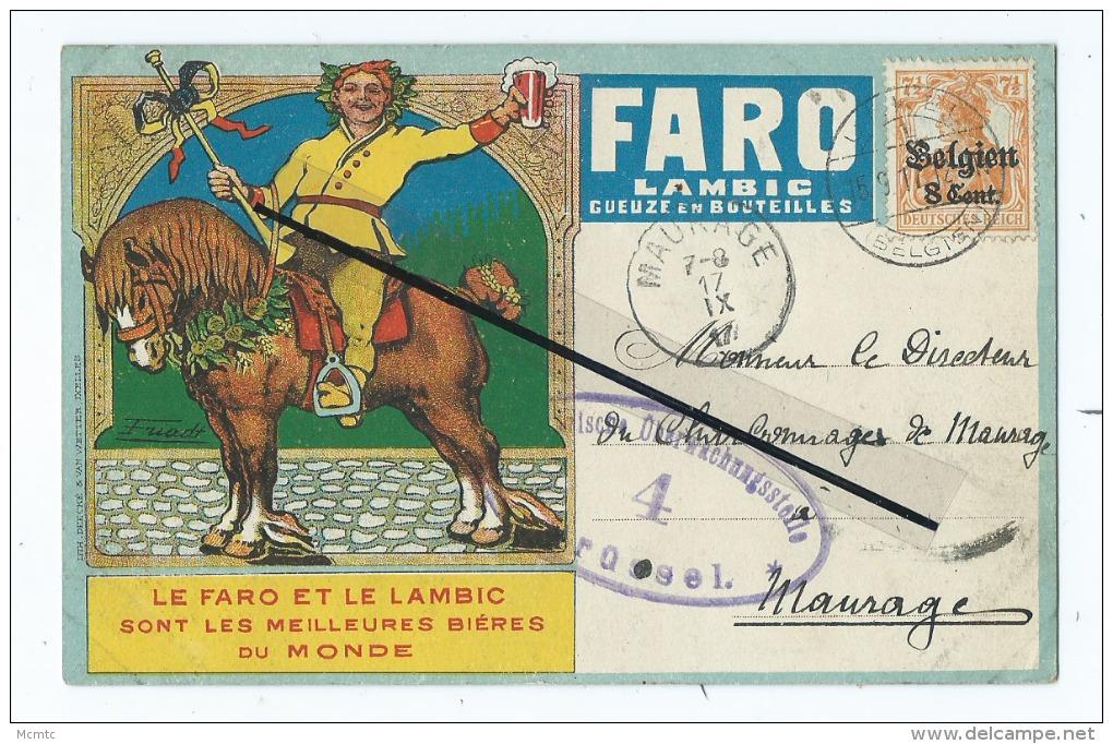 CPA - Le Faro Et Le Lambic Sont Les Meilleurs Bières Du Monde-Geuze En Bouteilles   Cachet Sur Le Devant- Cheval - Autres