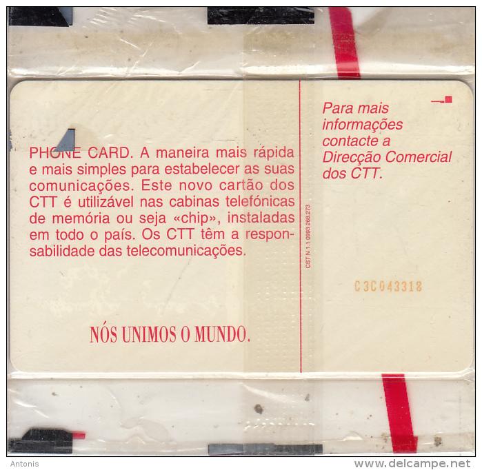 CAPE VERDE - Telecom Logo(blue), First Chip Issue, CN : C3C043318, Mint - Cap Vert