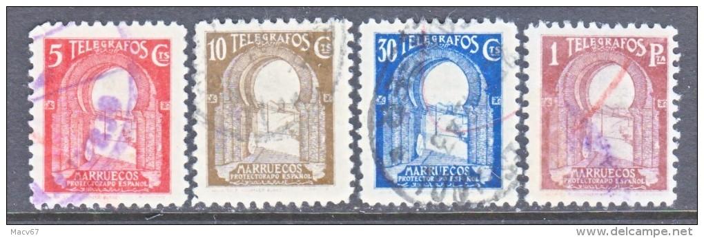 Spanish MOROCCO  TELEGRAPH  T 71-3, T 75      (o) - Spanish Morocco