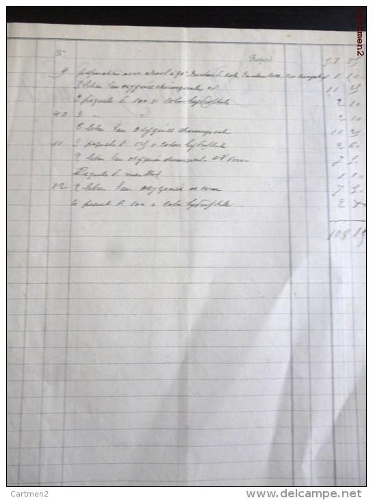 MAUBEUGE FACTURE PHARMACIE J. HUART 38 RUE DE MONS DROGUERIE PHARMACIEN ANALYSES 59 NORD MEDECINE - France