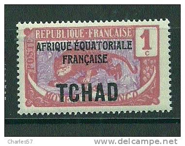 Tchad: N°1 ** Type Du Congo - Chad (1922-1936)
