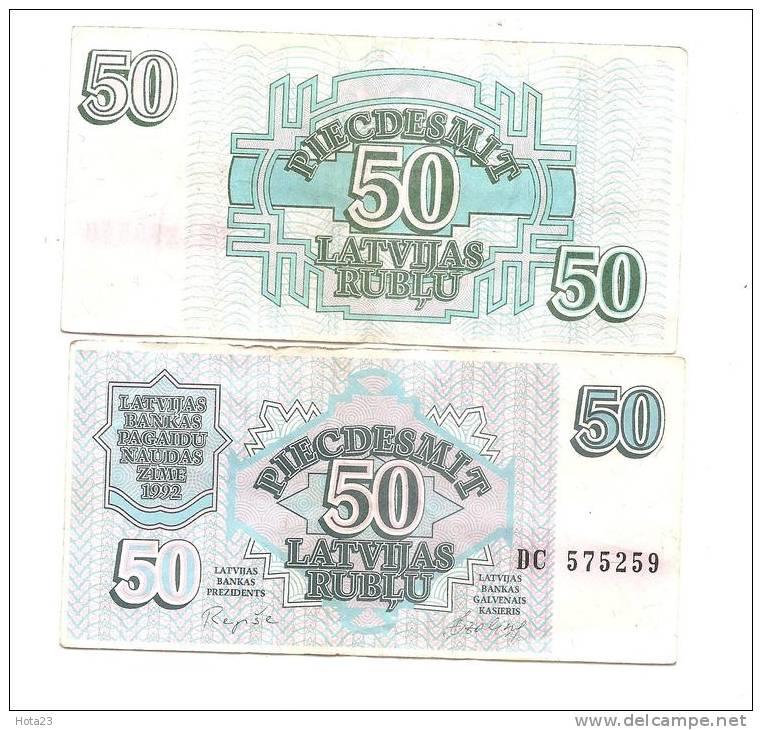 Lettland  LATVIA  Lettonia 1992  - 50  ROUBLE  CIRC -  VF + - Lettonie