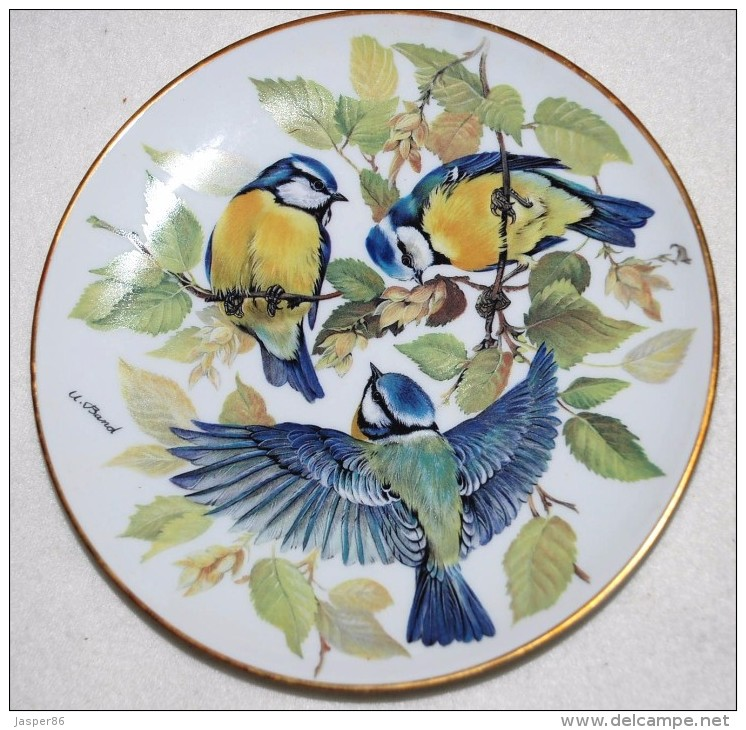 SONG BIRDS - SING VOGEL German Collector PLATE Ursula Band WWF G8 - Ceramics & Pottery