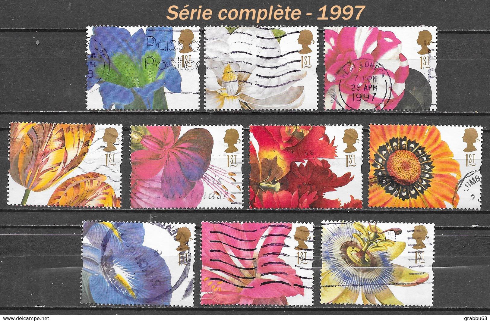 GB - Fleurs - Y&T N° 1925 / 1934 - Oblitérés - Lot 80 - 1952-.... (Elisabetta II)