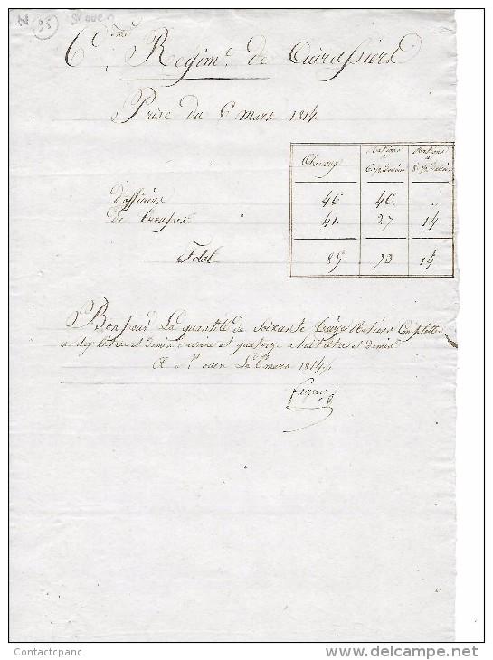6e Régiment De Cuirassiers  à SAINT OUEN Le SMART  En  1814 ( St - OUEN L'AUMONE  95 ) - Saint Ouen L'Aumone