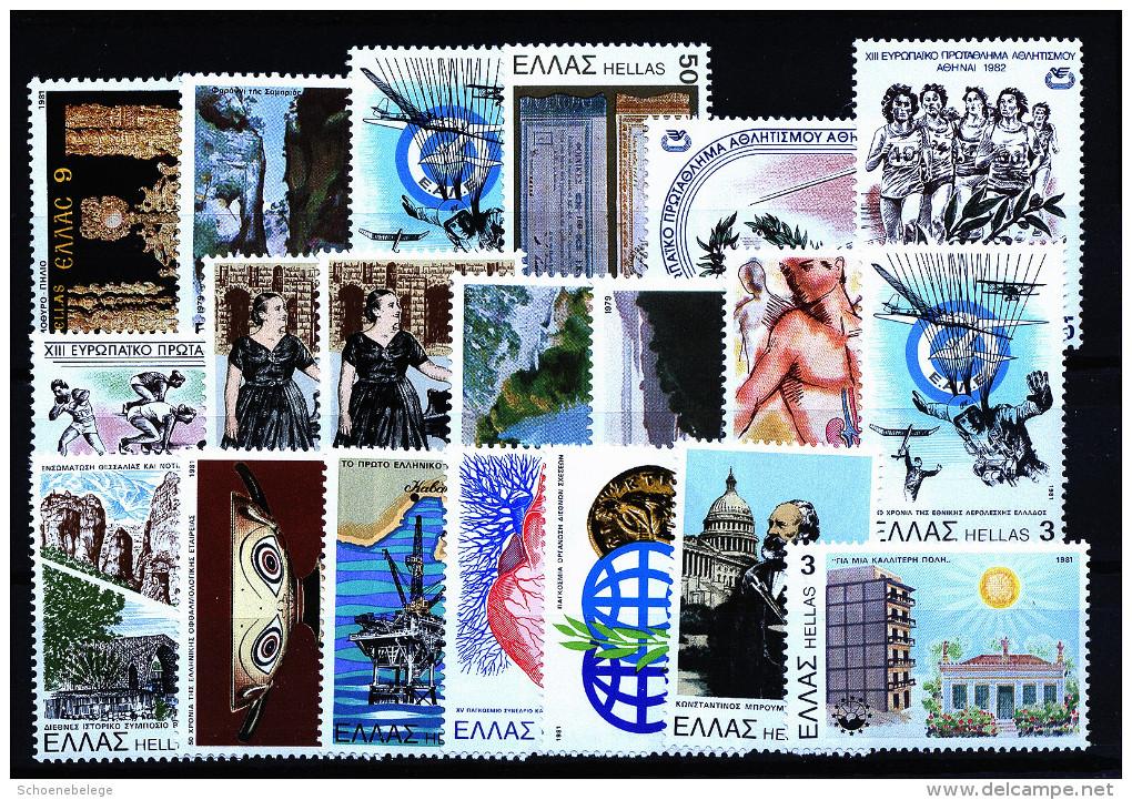 A3813) Griechenland Greece Kleiner Posten Mit 20 Marken ** Unused - Collections