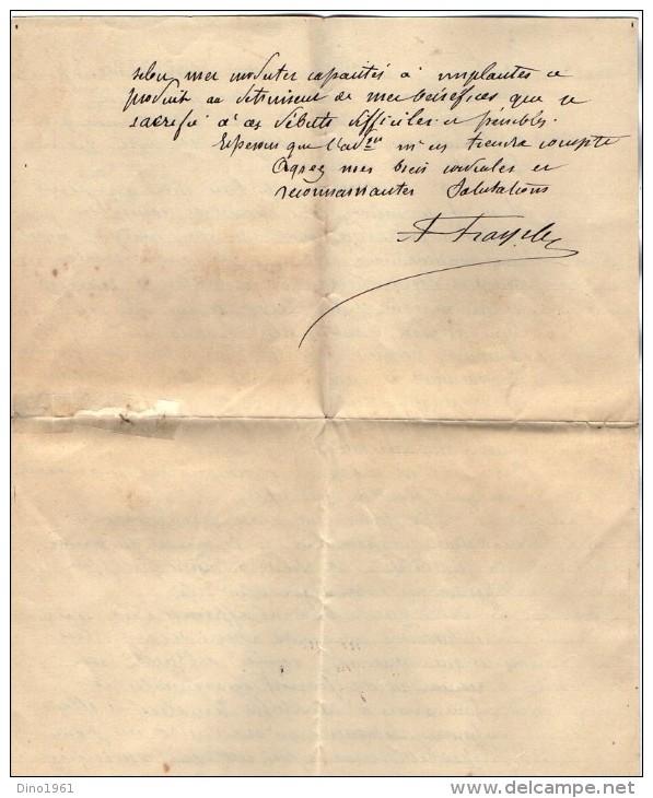 VP3518 - Lettre De Mr A. FRAYSSE  Agent Spécial Pour La Vente De Jus De Tabac à BUENOS AIRES à Mr SCHLOESING à PARIS - Documents