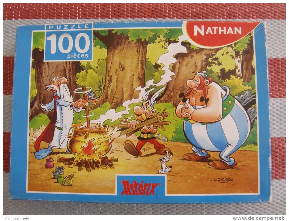 ASTERIX - PUZZLE 100 PIECES - NATHAN - LA POTION MAGIQUE - OCCASION COMPLET TRES BON ETAT - Astérix