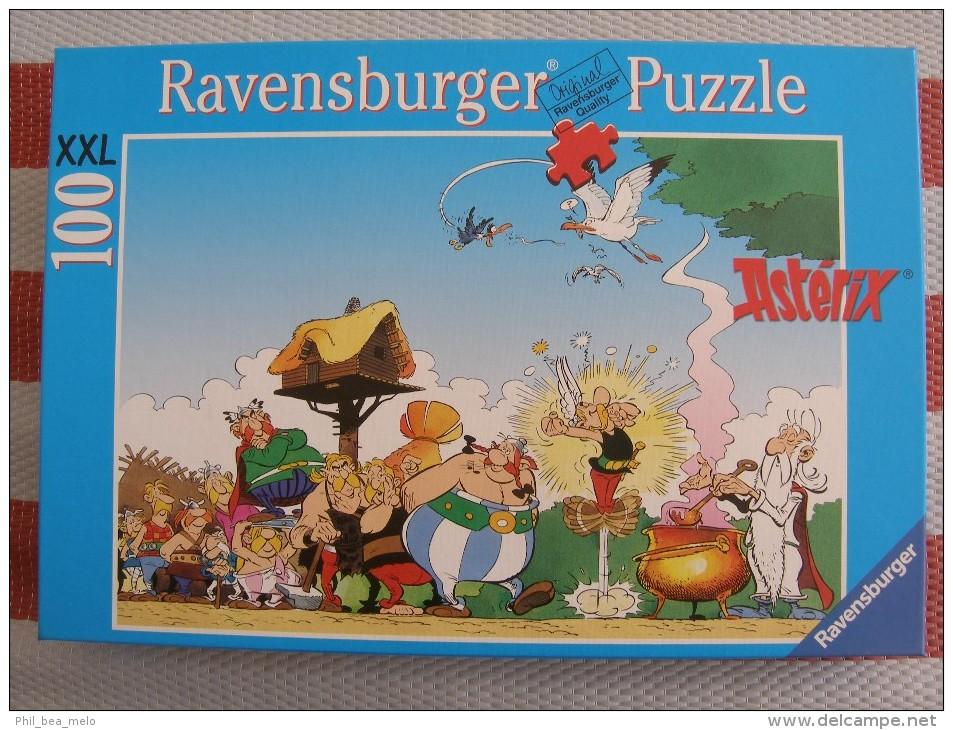 ASTERIX - PUZZLE 100 PIECES XXL - RAVENSBURGER -  DISTIBUTION DE POTION MAGIQUE - OCCASION COMPLET EXCELLENT ETAT - Astérix