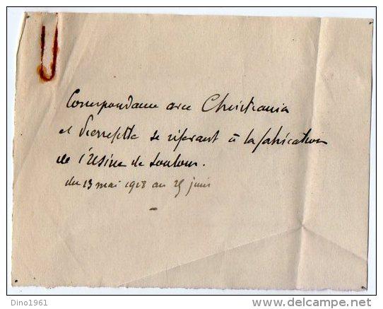 VP3533  - Lot De Documents Concernant La Fabrique Nitratiere De SOULOM & PIERREFITTE NESTALAS Pour PARIS - Documents