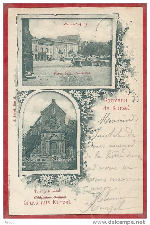 57 - KURZEL URVILLE - COURCELLES CHAUSSY - Gemeinde Platz - Synagogue - Synagoge - Temple Israélite - Judaica - 4 Scans - France