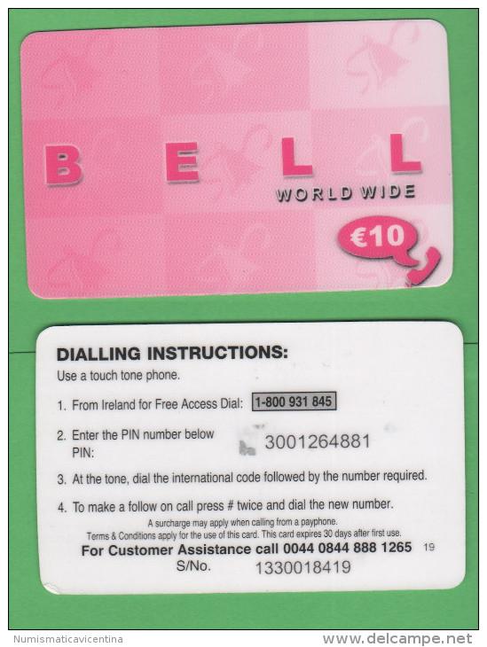Ireland EIRE Phone Cards 10 € BELL Rose - Irlanda