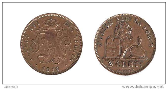 N2226 - Belgique: Albert I: 2 Centimes 1919, Lég. Françaises - 02. 2 Centimes
