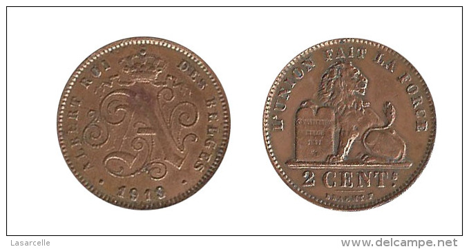 N2226 - Belgique: Albert I: 2 Centimes 1919, Lég. Françaises - 1909-1934: Albert I