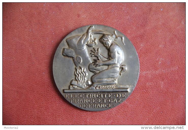 Médaille ELECTRICITE DE FRANCE Et GAZ De FRANCE  - 20 ANNEES DE SERVICE - - Professionals/Firms