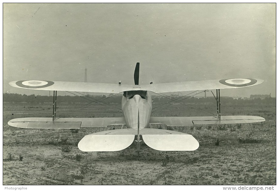 France WWI Nieuport 28 Prototype Avion De Chasse Aviation Militaire Ancienne Photo 1917 - Aviation
