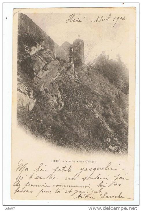 Hédé    Vieux Chateau    Dos Simple  1904 - Frankrijk