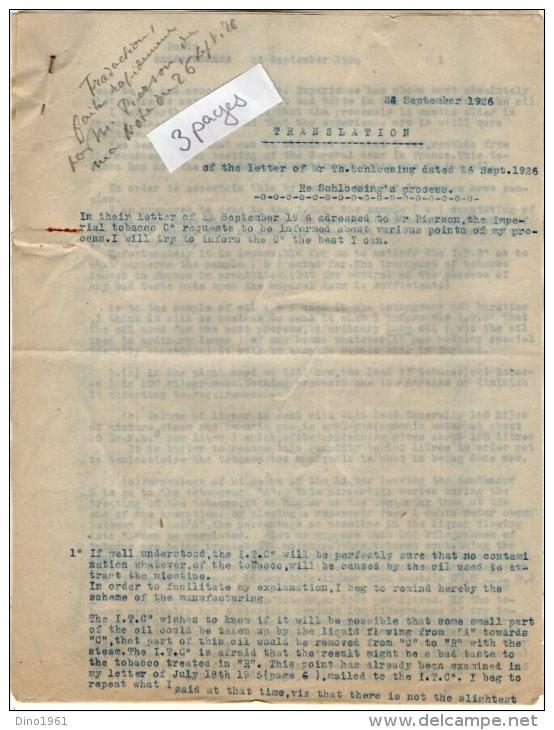 VP3563 - PARIS X LEVALLOIS PERRET - Lot  De Documents Concernant La Cie BRITISH AMERICAN TABACCO & IMPERIAL TABACCO Cie - Documents