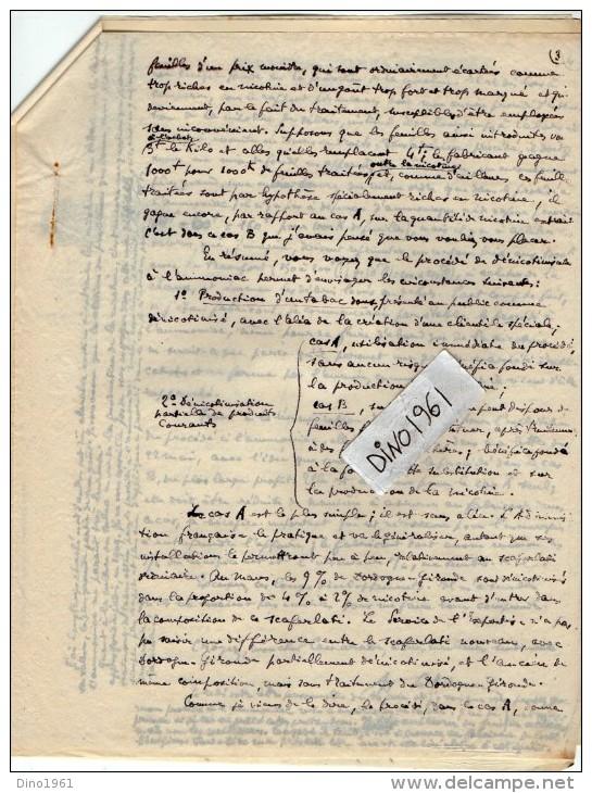 VP3575 - Tabac - Lettre Des Manufactures De Tabacs P. BASTOS à ORAN Pour  Mr Th. SCHOESING à PARIS - Documents