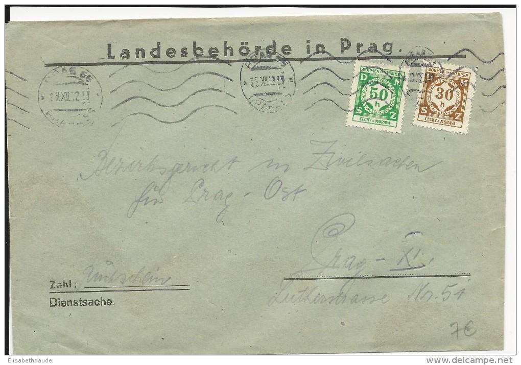 TCHECOSLOVAQUIE PROTECTORAT ALLEMAND - 1942 - ENVELOPPE De SERVICE Du LANDESBEHÖRDE De PRAGUE - Bohême & Moravie