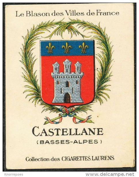 Cigarettes Laurens/Le Blason Des Villes De France : Armoiries De Castellane - Cigarette Cards