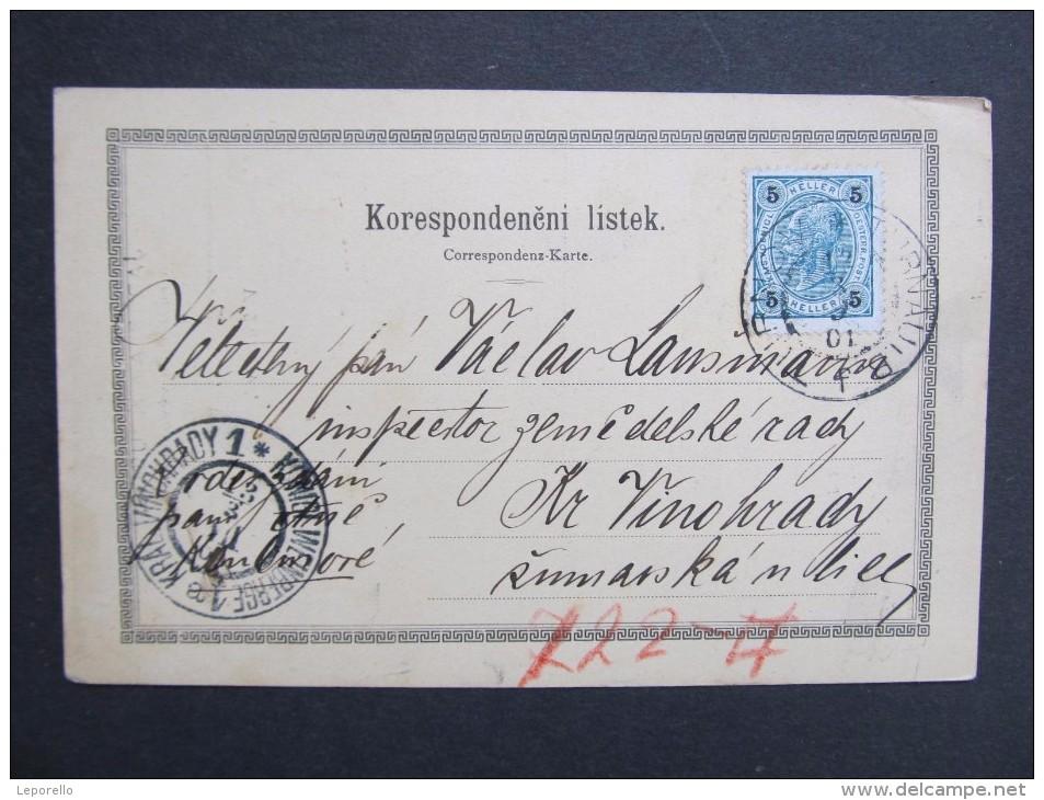 POSTKARTE Turnov - Turnau - Vinohrady Fa. Jaroslav Koubus  1901 /// D*19767 - 1850-1918 Imperium