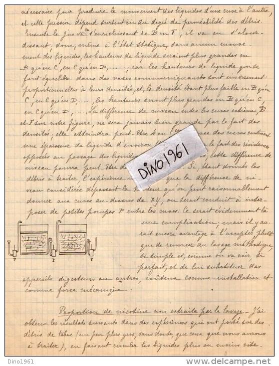 VP3585 - Tabac - Lettre + Note De Renseignements à L´inttention De Mr GREEN De LIVERPOOL - Documents